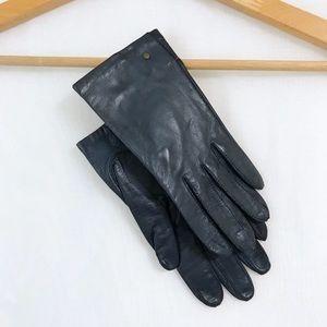 Vintage Silk Lined Leather Gloves